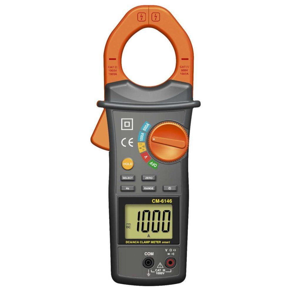 Pinza amperimétrica CM6146 (1000A AC/DC)