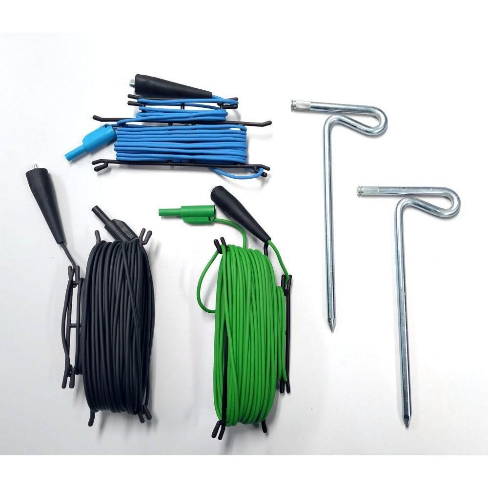 Juego de picas y cables mod. AL38 para Medidor de Tierras Metrel
