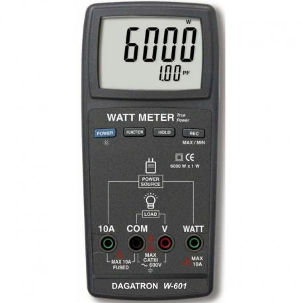 Multímetro vatímetro Dagatron W-601