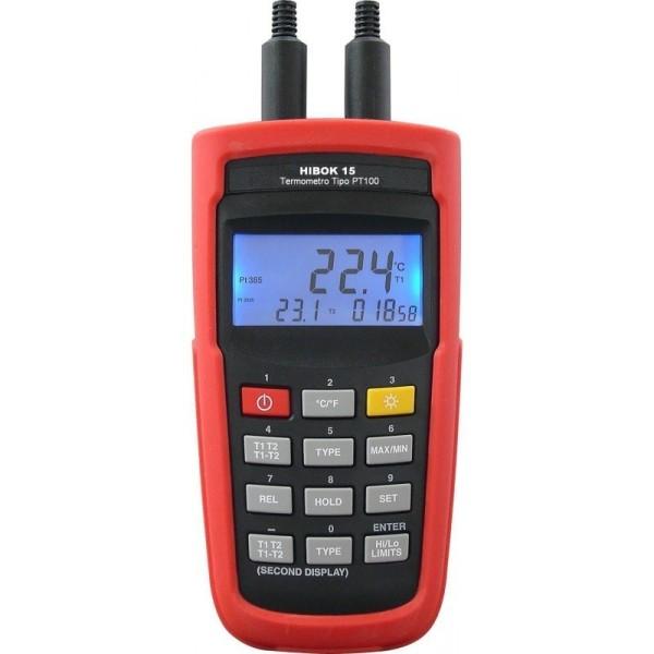 Termómetro de doble canal TP-100 Hibok-15