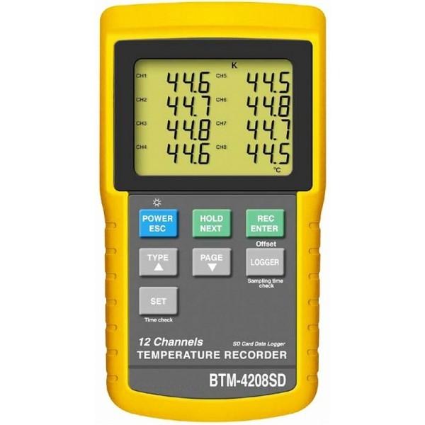 Termómetro de 12 canales BTM4208SD