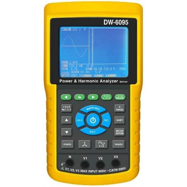 Analizador de redes trifásico y armónicos DW-6095