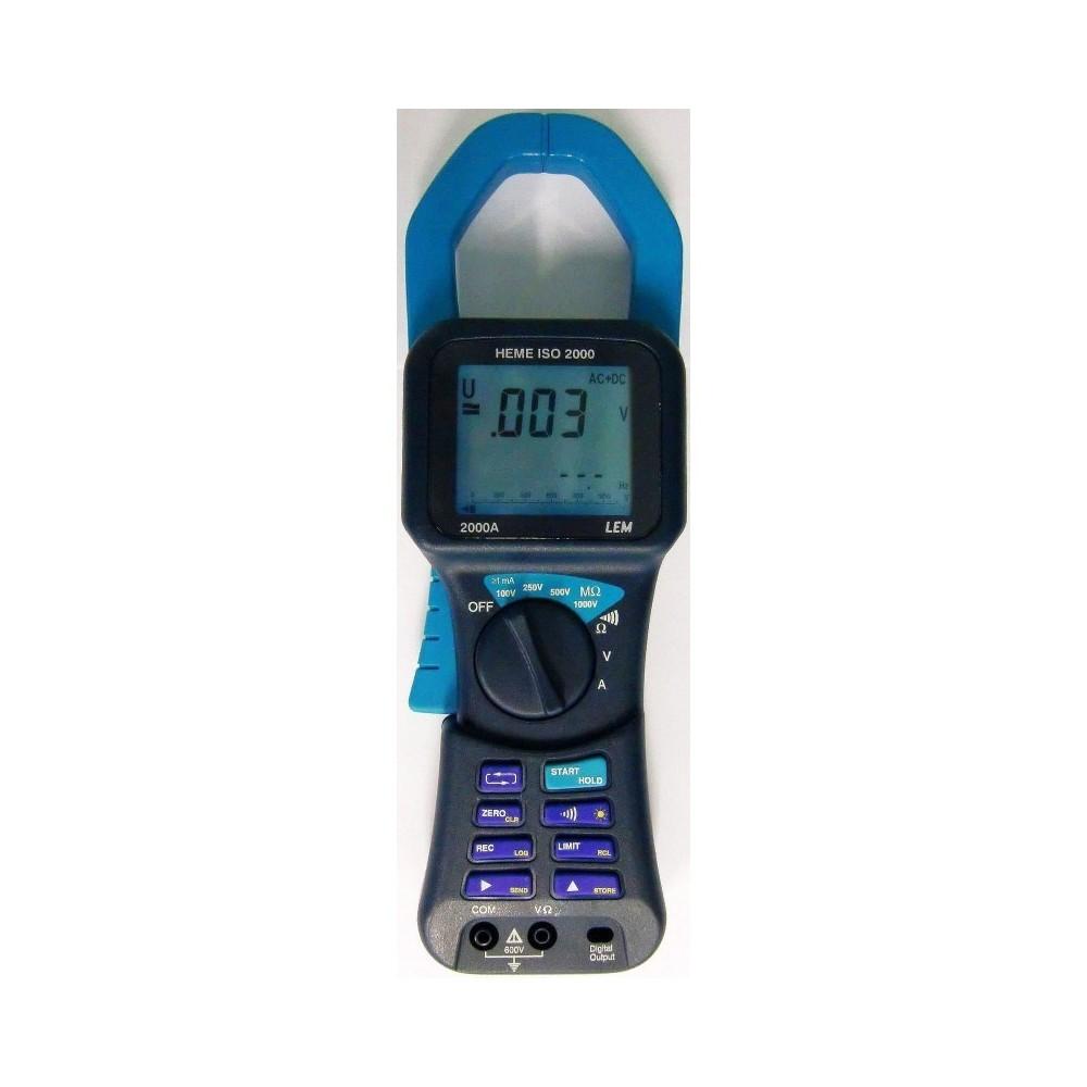 Pinza amperimétrica Multímetro Lem Heme ISO-2000