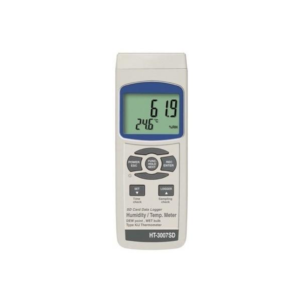 Termo higrómetro HT3007SD