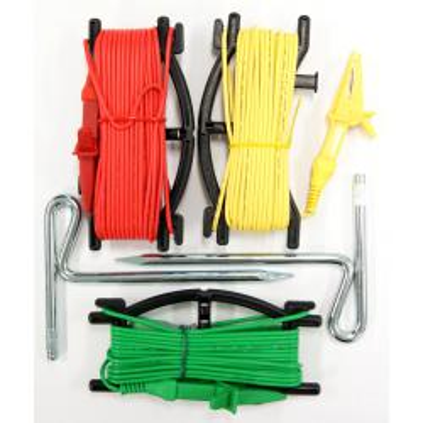 Juego de picas y cables para Medidor de Tierras AL36