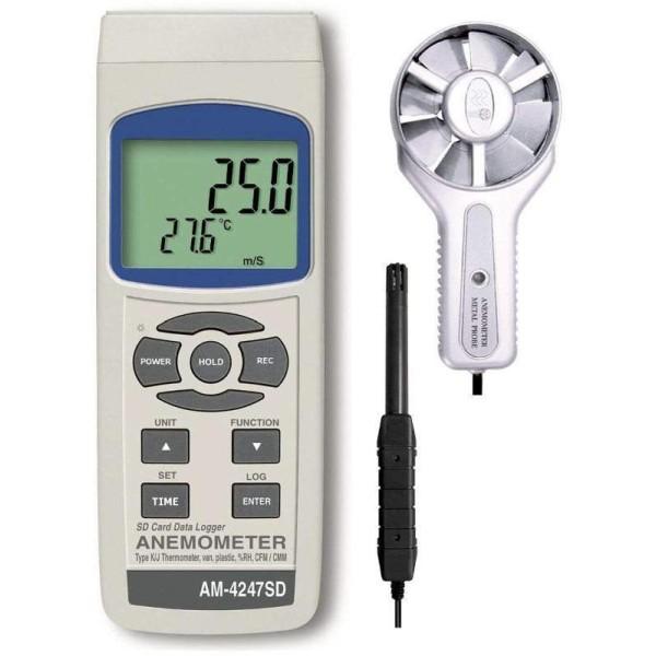 Anermometro Higrómetro Termómetro AM4247SD