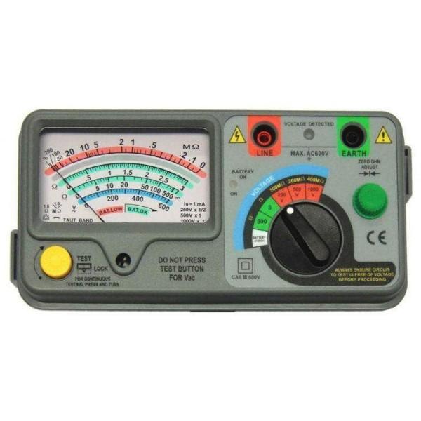 Medidor analógico de aislamiento HIBOK620 (1kV)