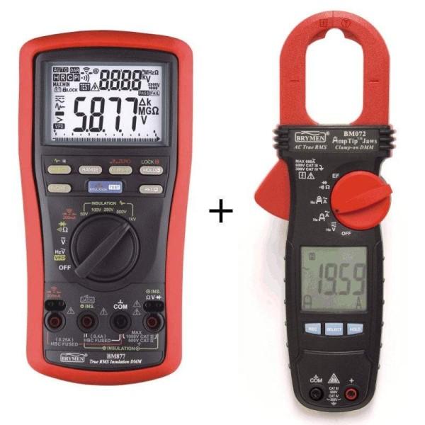 Oferta Multímetro de aislamiento BM-877 + Pinza amperimétrica Brymen BM-072