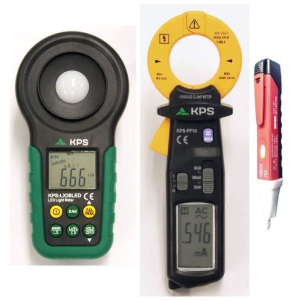 Oferta Luxómetro LX30LED y Pinza amperimétrica de fugas PF-10