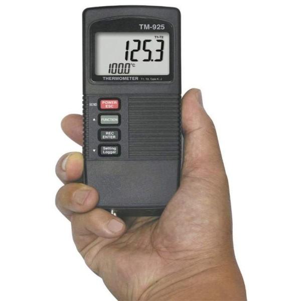 Termómetro tipo K y J, TM925