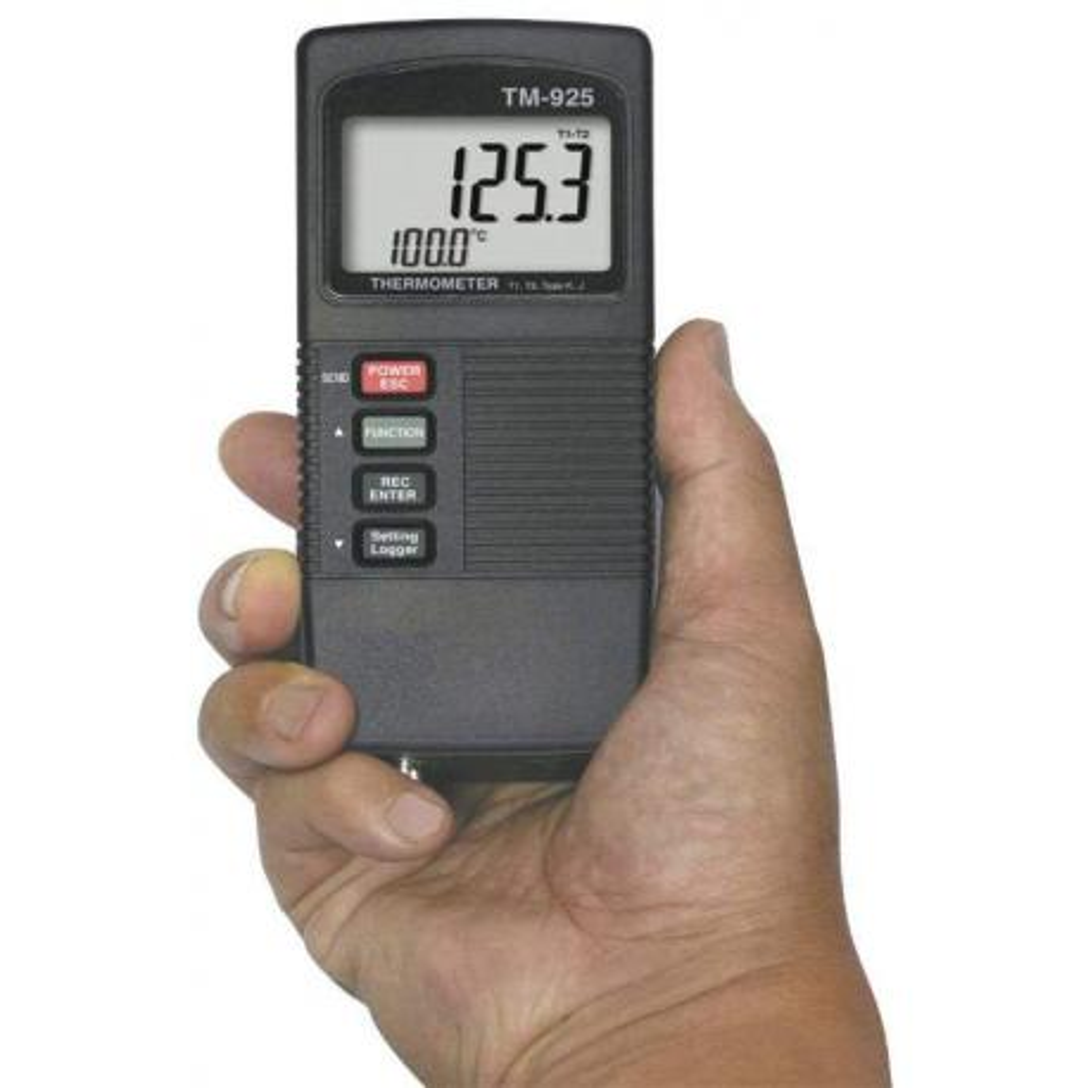 Termómetro termopar de 2 canales TM-925