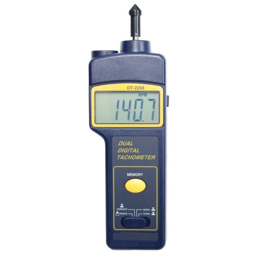 Tacómetro de contacto y óptico DT-2268