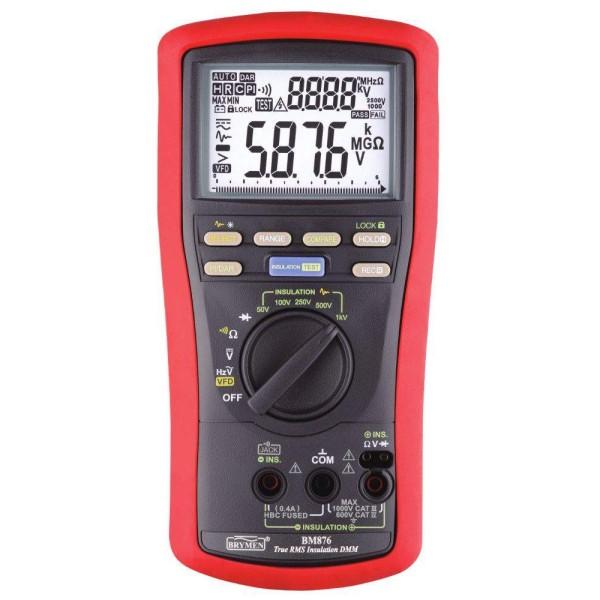 medidor de aislamiento + multimetro BM876